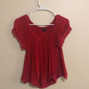 Ruffled Red Top